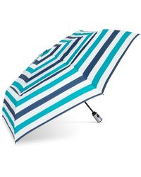 Shedrain Vented Automatic Compact Printed Umbrella - Blue
