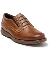 Sandro Moscoloni 4 Eyelet Plain Toe Double Gore Derby - Brown