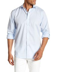 Bugatchi - Long Sleeve Classic Fit Solid Woven Shirt - Lyst