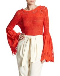 Free People - Once Upon A Time Linen Blend Jumper - Lyst