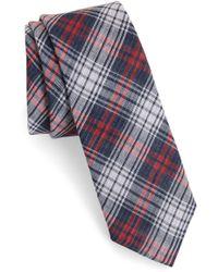 1901 - Basin Plaid Cotton Tie - Lyst