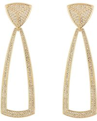 House of Harlow 1960 - Crystal Pyramid Dangle Earrings - Lyst