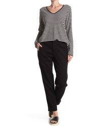 Eileen Fisher Slouchy Ankle Pants - Black