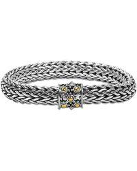 John Hardy 18k Gold & Sterling Silver Single Station Chain Bracelet - Metallic