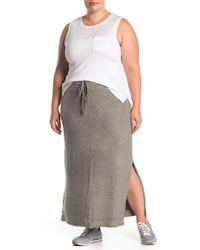 Barefoot Dreams Cozychic Ultra Lite(r) Maxi Skirt (plus Size) - Gray