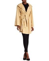 Lafayette 148 New York Lightweight Hooded Coat - Natural