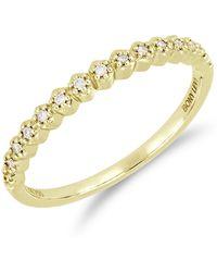Bony Levy - 18k Yellow Gold Prong Set Diamond Accent Ring - 0.08 Ctw - Lyst