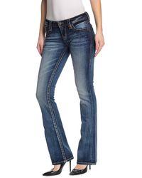 Rock Revival Julee Mid Rise Bootcut Jeans - Blue