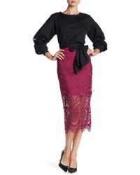 Laundry by Shelli Segal - Scallop Lace Skirt - Lyst