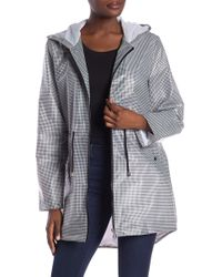 French Connection - Gingham Print Rain Coat - Lyst