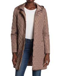 Lauren by Ralph Lauren Quilted Hooded Jacket - Brown