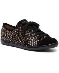 Longchamp Pliage Patch Calf Hair Sneaker - Black