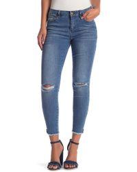 Velvet Heart - Jewel Frayed Hem Ankle Jeans - Lyst