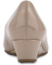 Bandolino Clesa Peep Toe Wedge Pump - Natural