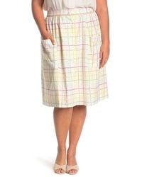 ModCloth Patch Pocket Button Front Skirt - Multicolor