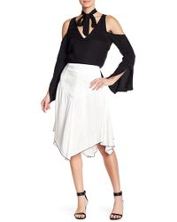 Line & Dot | Dita Pipe Trim Sharkbite Silk Blend Skirt | Lyst