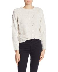 8be640aaa Lyst - TOPSHOP Pointelle Panel Sweater in White