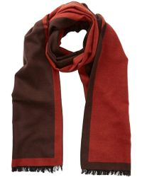 Tommy Bahama - Double Faced Solid Frayed Trim Silk Wrap Scarf - Lyst