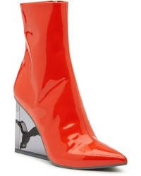 PUMA - Puma By Rihanna Cat Patent Leather Wedge Boot - Lyst