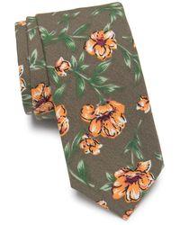 Original Penguin Harriet Floral Tie - Green