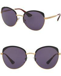Prada - Round Frames Of Life 59mm Sunglasses - Lyst