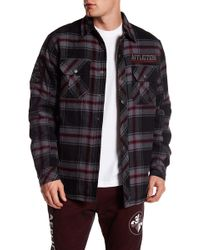 Affliction - Plaid Button Down Jacket - Lyst