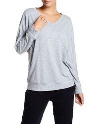 Felina - City Terry Lounge Long Sleeve Sweatshirt - Lyst