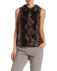 Trina Turk - Kailee Faux Fur Cowl Neck Sleeveless Sweater - Lyst