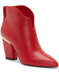 1.STATE Corben Leather Bootie - Red
