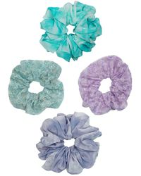 Berry Assorted Patterned Scrunchie - Multicolor