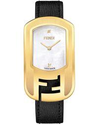 Fendi Women's Chameleon Swiss Quartz Diamond Mesh Bracelet Watch, 29mm X 49.2mm - 0.009 Ctw - Metallic
