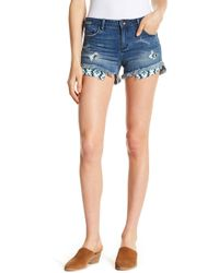 Tractr - Distressed Embellished Pocket Shorts - Lyst