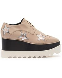 Stella McCartney Lace-up Platform Derby Sneaker - Natural