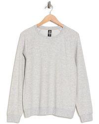 90 Degrees Terry Brushed Long Sleeve Sweatshirt - Gray