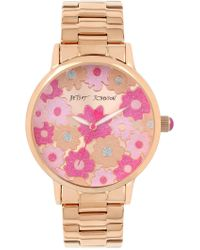 Betsey Johnson - Women's Bright Flower Bracelet Watch, 31mm - Lyst