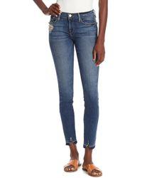 FRAME - Le Skinny De Jeanne Raw Hem Denim Jeans - Lyst