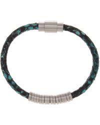 Steve Madden - Snake Print Leather Bracelet - Lyst