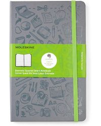 Moleskine - Light Grey Evernote Squared Smart Notebook - Lyst