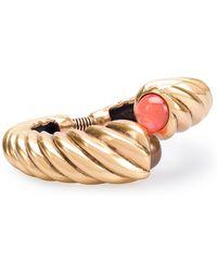 Oscar de la Renta - Etched Wrap Bracelet - Lyst