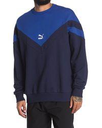 PUMA Iconic Mcs Crew Neck Sweater - Blue