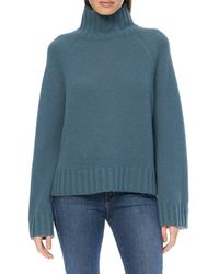 360cashmere Leighton Mock Neck Sweater - Blue