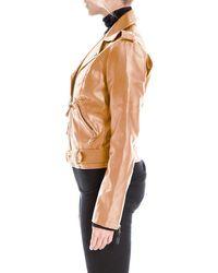 Max Studio Faux Leather Crop Moto Jacket - Multicolor