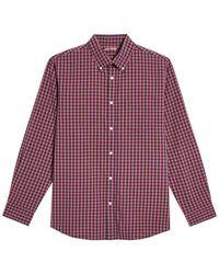 Joe Fresh Gingham Print Long Sleeve Shirt - Purple