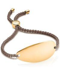 Monica Vinader 18k Yellow Gold Vermeil Nylon Nura Friendship Bracelet At Nordstrom Rack - Metallic