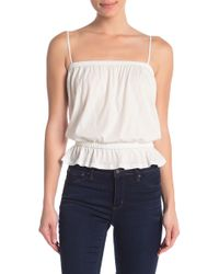 Project Social T Cinched Waist Cami - White