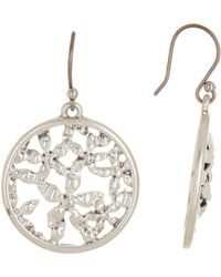 Lucky Brand - Floral Openwork Coin Drop Earrings - Lyst