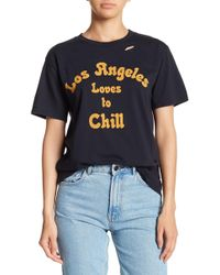 Michelle By Comune - Los Angeles Distressed Short Sleeve Tee - Lyst
