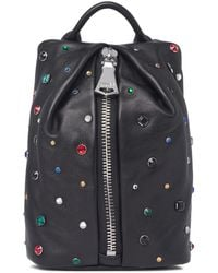 Aimee Kestenberg Tamitha Animal Print Genuine Calf Hair Mini Crossbody Bag - Black