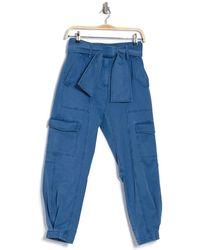 Derek Lam Elian Tied Waist Utility Pants - Blue