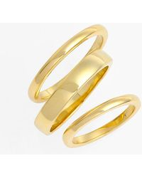 Ariella Collection - Band Rings & Midi Ring Set - Set Of 3 - Lyst